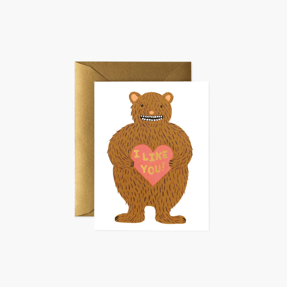 I Like You Bear Valentines Day Card - Rifle Paper Co