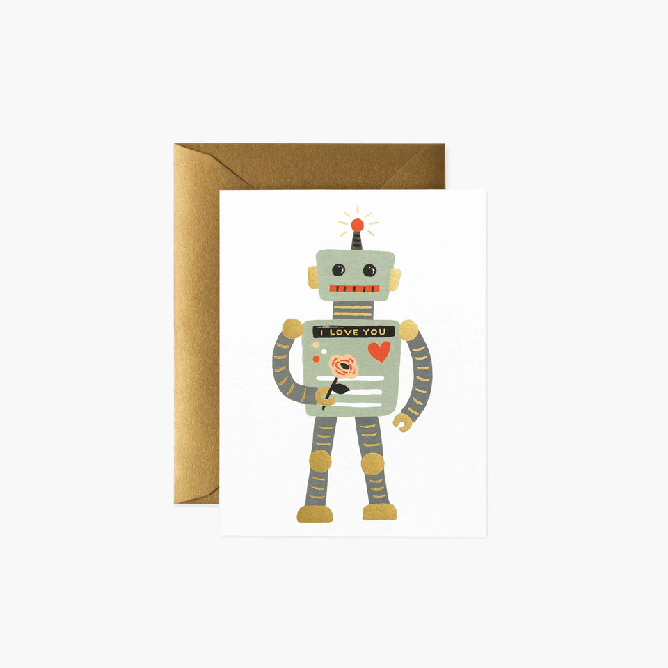 Robot I Love You Valentine's Card - Rifle Paper Co