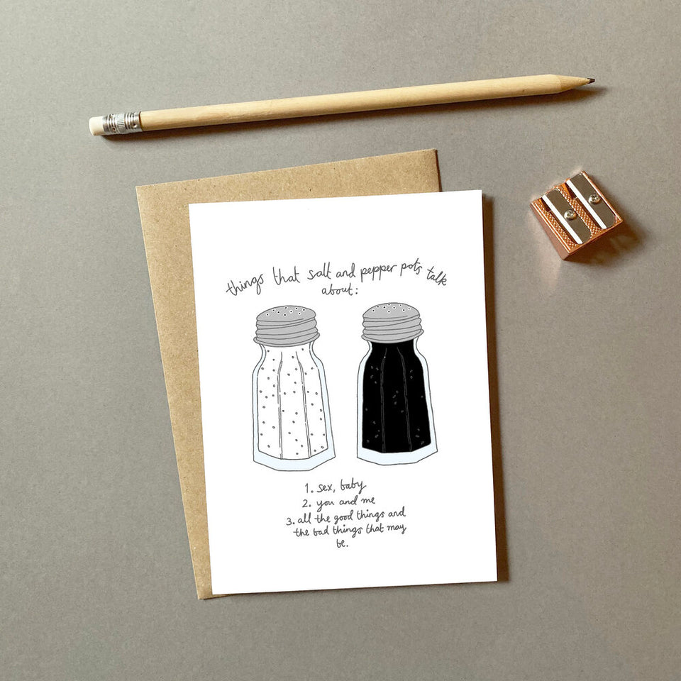 Salt n Pepa Valentine's Day Card - You've Got Pen On Your Face
