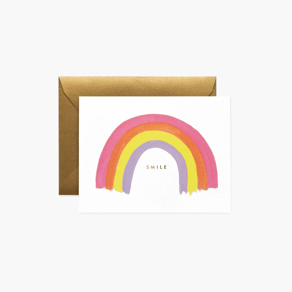 Smile Rainbow Greetings Card - Rifle Paper Co
