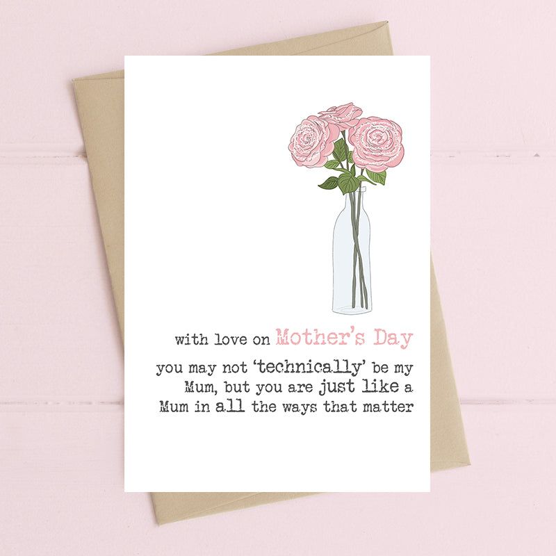 Not Technically My Mum Mother's Day Card - Dandelion Stationery