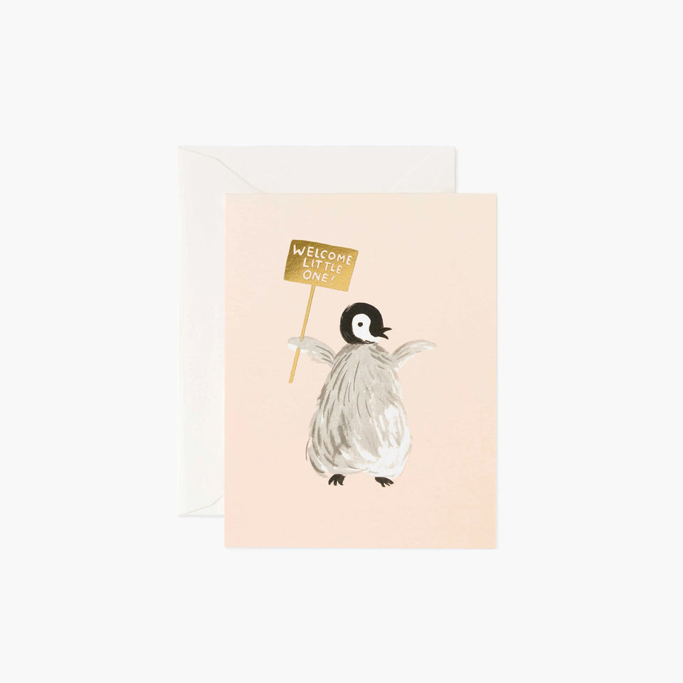 Welcome Penguin New Baby Card - Rifle Paper Co