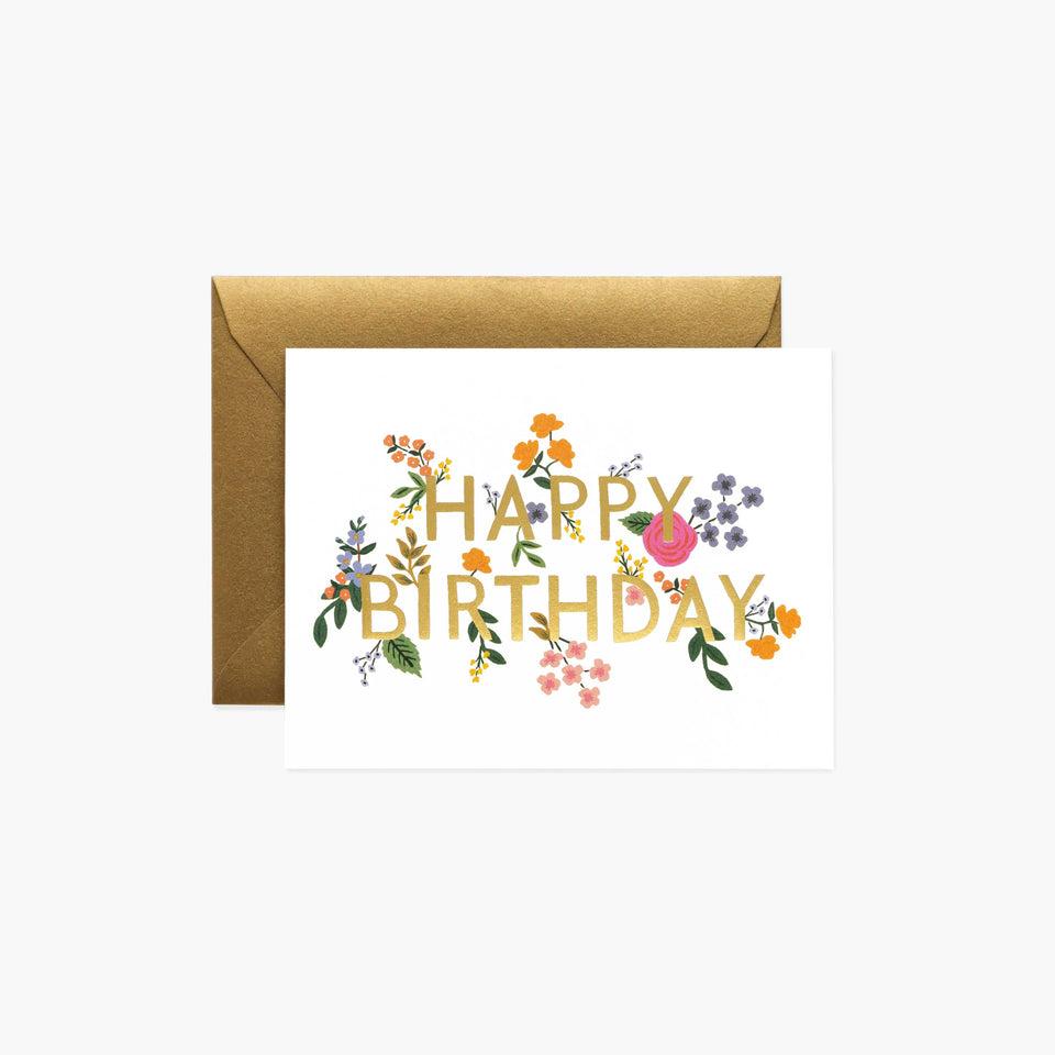 Wildwood Happy Birthday Card - Rifle Paper Co