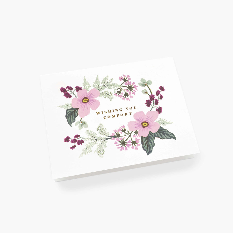 Wishing You Comfort Bouquet Sympathy Greetings Card - Rifle Paper Co