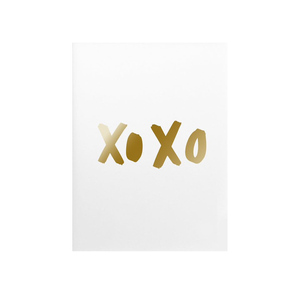 XoXo Hugs & Kisses Gold Foil Art Print