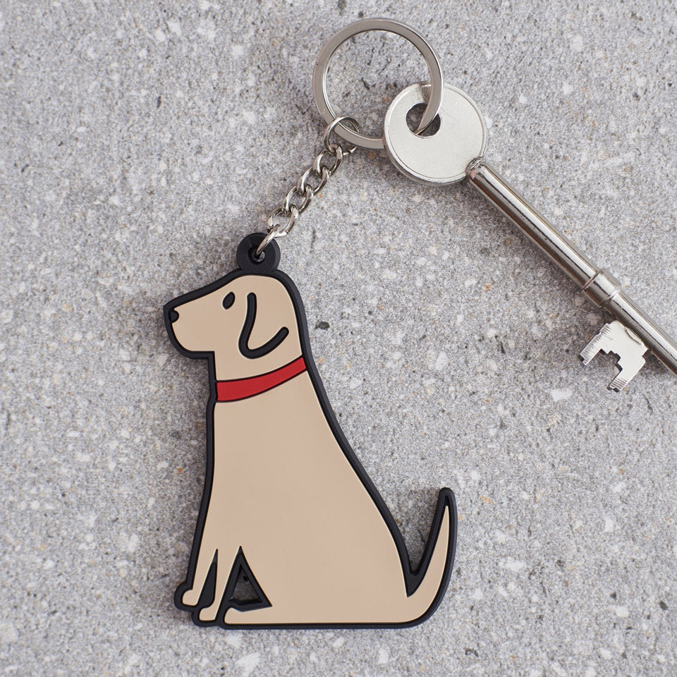 Yellow Labrador Dog Keyring - Sweet William