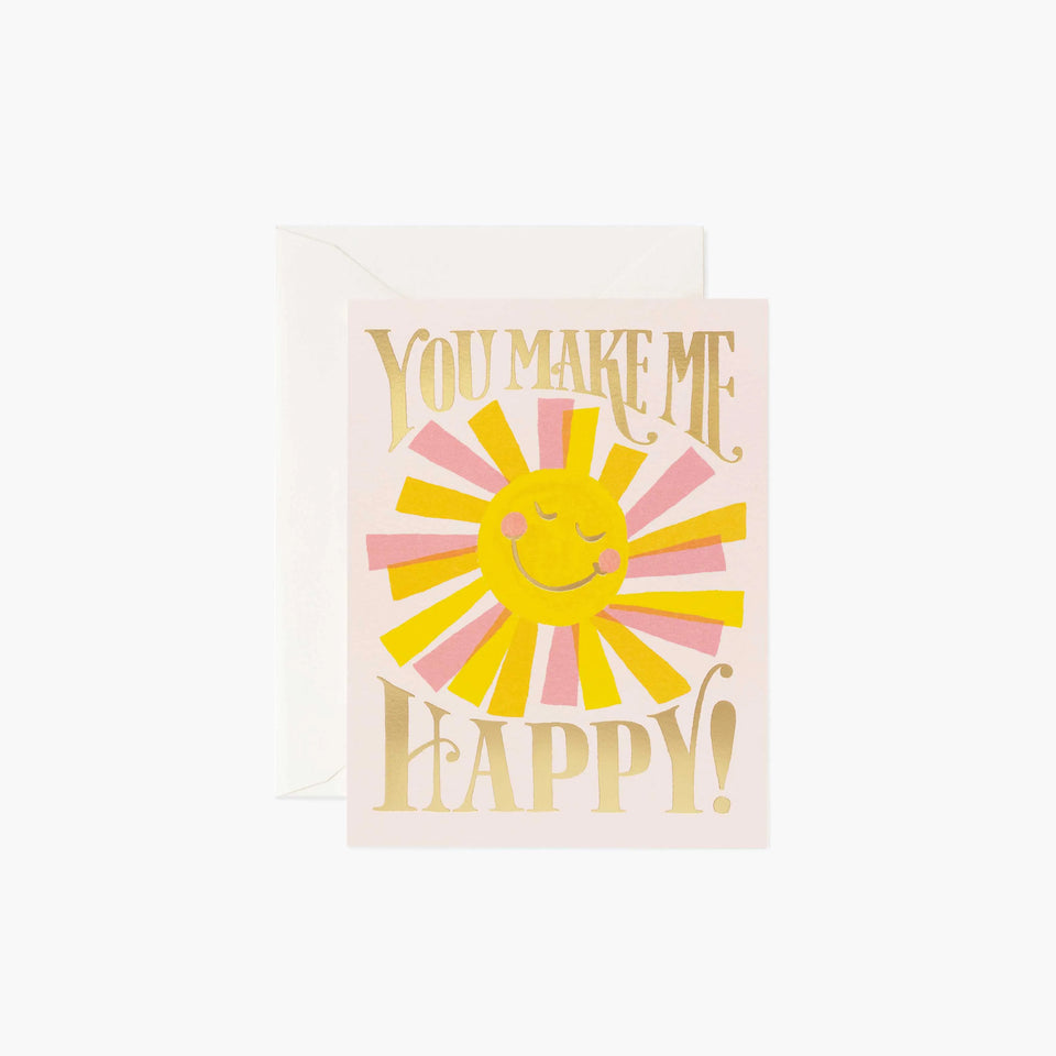 You Make Me Happy Card - Rifle Paper Co