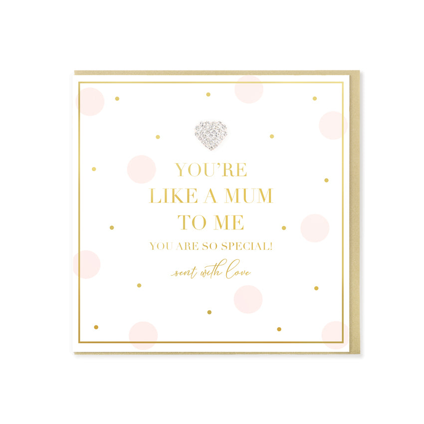 You're Like A Mum To Me Card - Hearts Designs