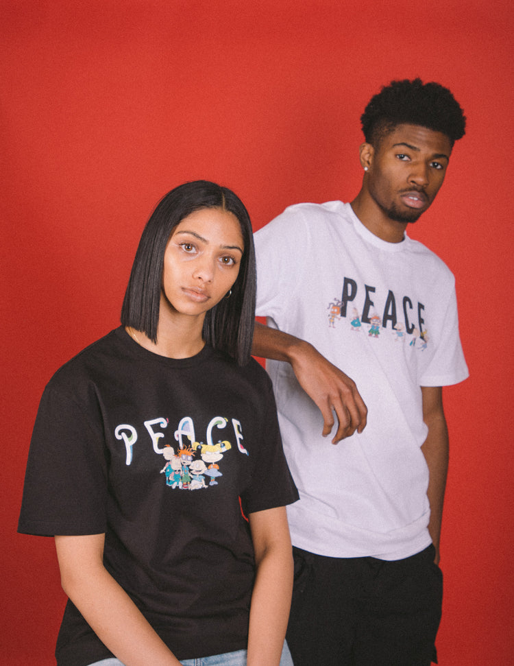 Final Sale - P/C x Rugrats Peace T-Shirt - White