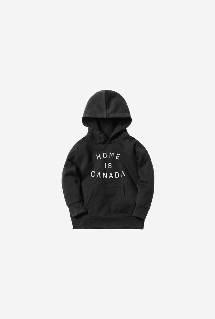 Home is Canada Kids Hoodie Black