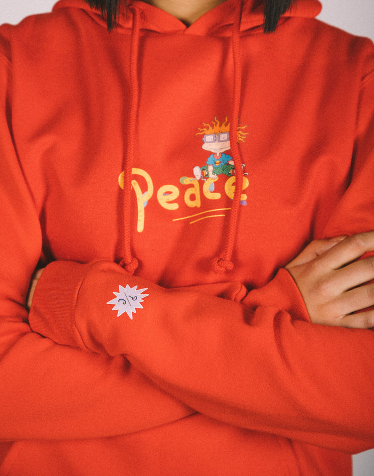 Final Sale - P/C x Rugrats Chuckie Hoodie - Red
