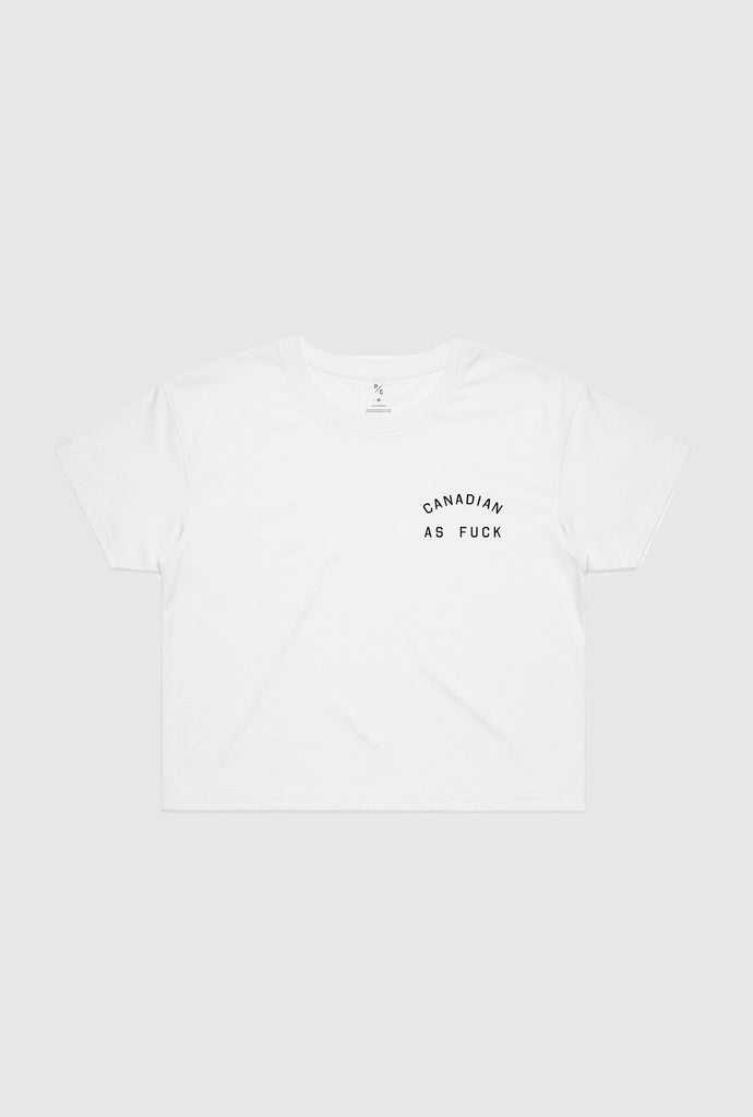 Canadian as Fuck Cropped T-Shirt - White