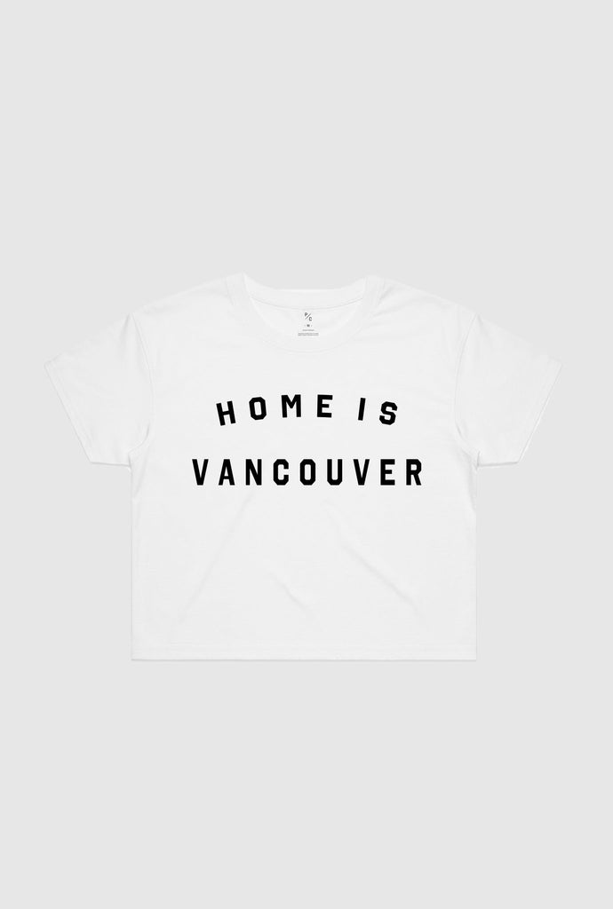 Home is Vancouver Cropped T-Shirt - White