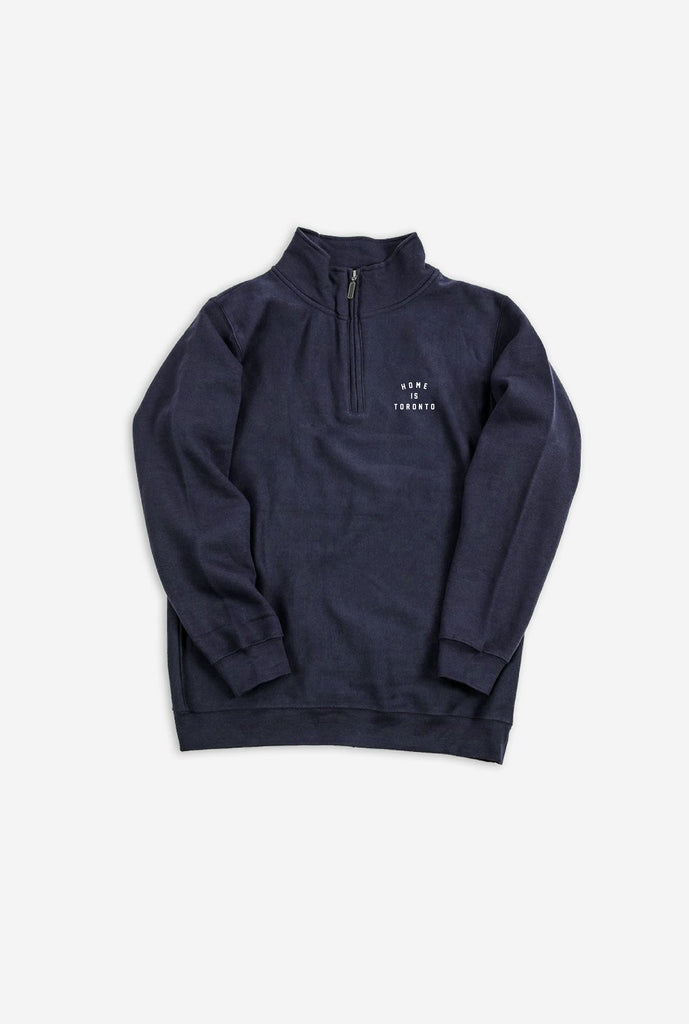 Home is Toronto Crescent Quarter Zip - Navy