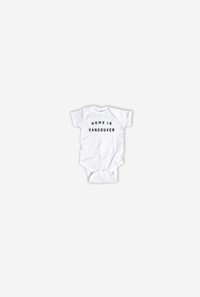 Home is Vancouver Onesie White