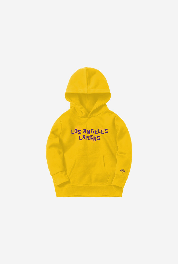 NBA x Spongebob Los Angeles Lakers Kids Hoodie - Gold