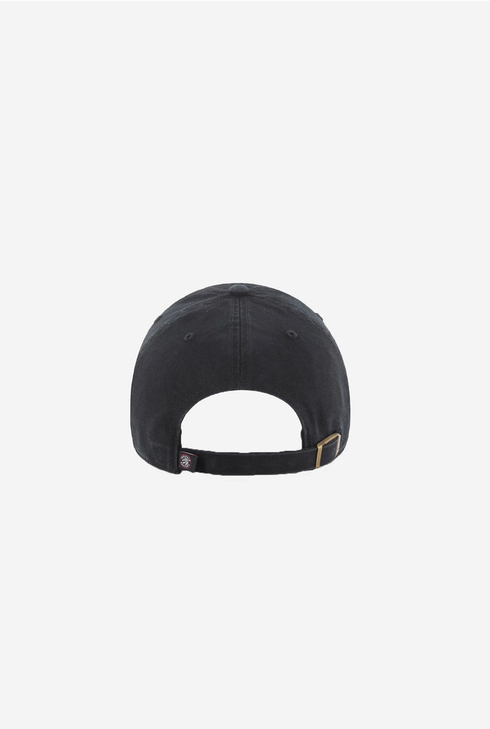 Toronto Raptors Clean Up Cap - Black on Black