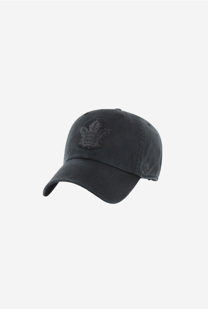 Toronto Maple Leafs Clean Up Cap - Black on Black