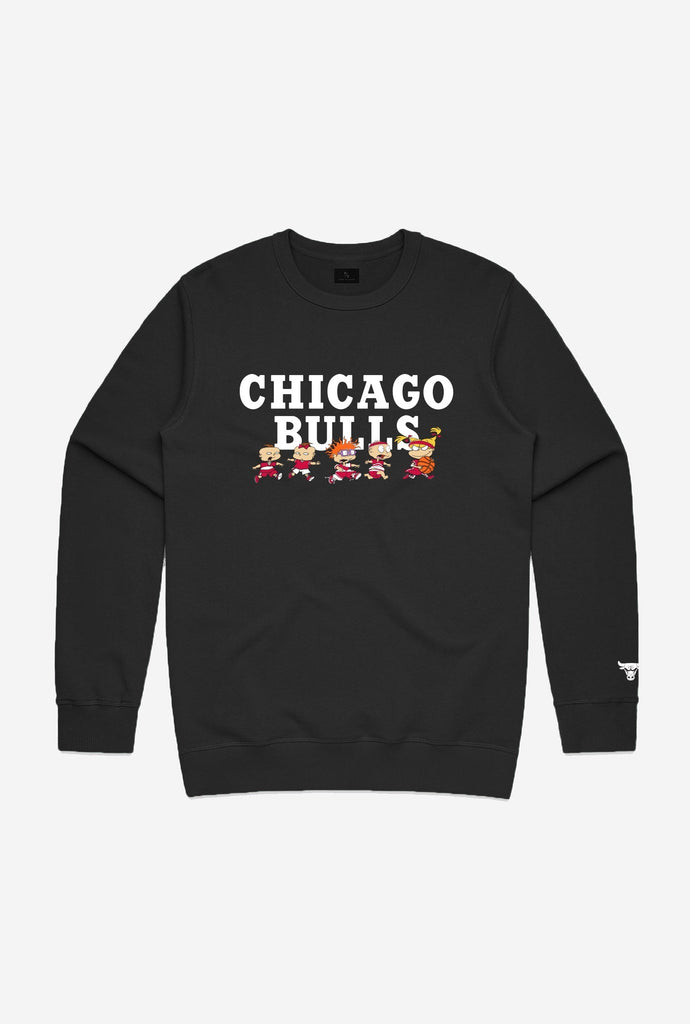 NBA x Rugrats Chicago Bulls Team Crewneck - Black