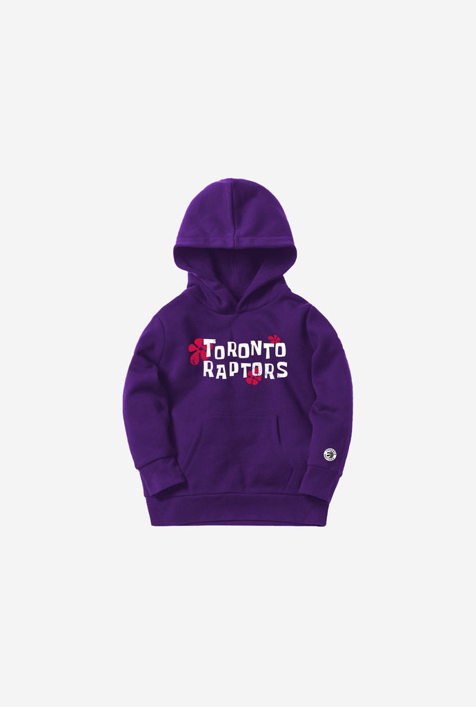 NBA x Spongebob Toronto Raptors Kids Hoodie - Purple