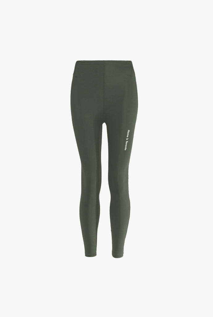 Home is Toronto Minimal Leggings - Olive