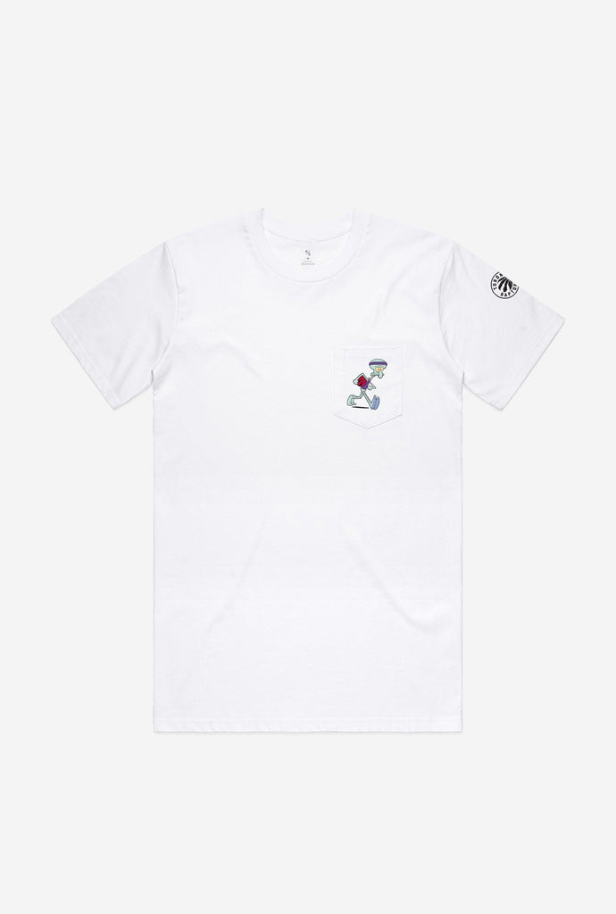 Toronto Raptors Squidward Pocket T-Shirt - White