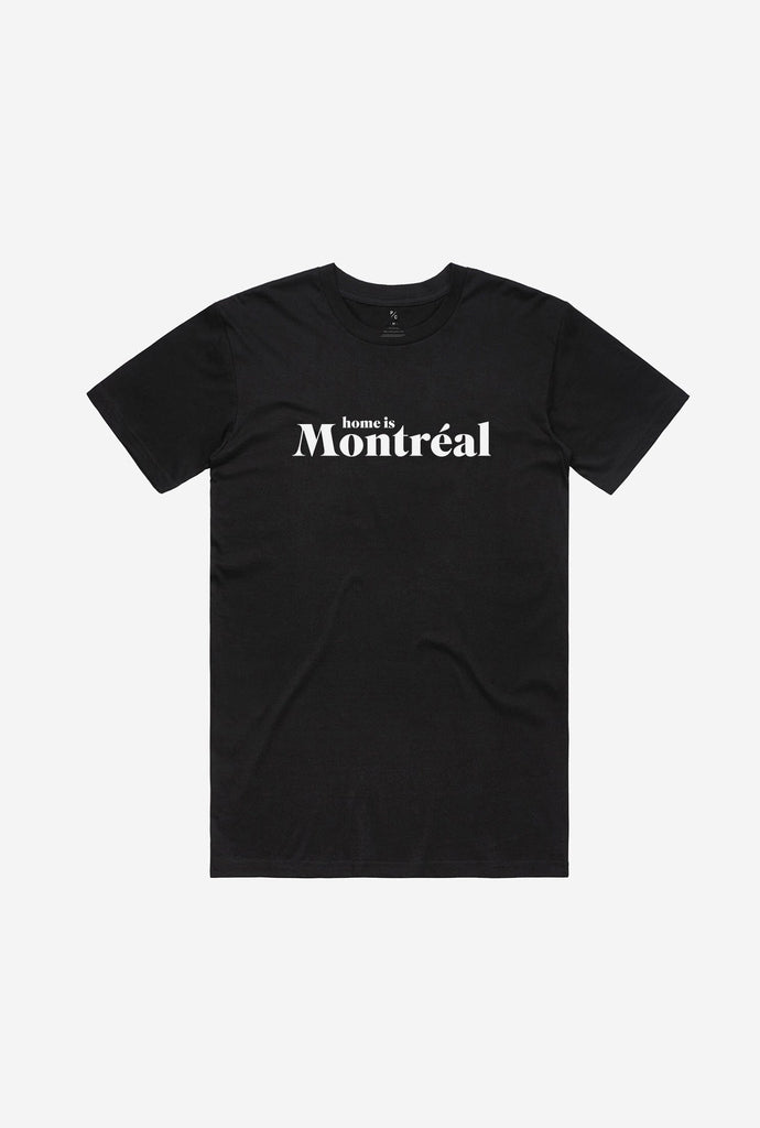 Home is Montreal T Shirt Black