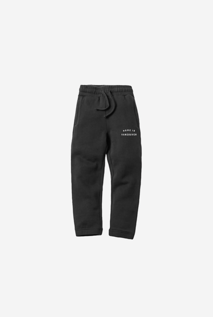 Home is Vancouver Kids Jogger - Black