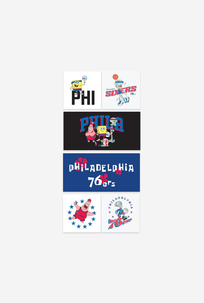 NBA x Spongebob Philadelphia 76ers Sticker Pack