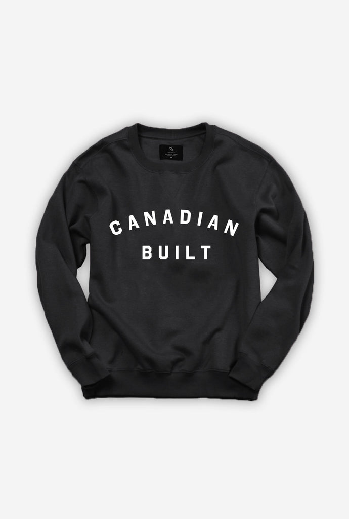 Canadian Built Crewneck - Black