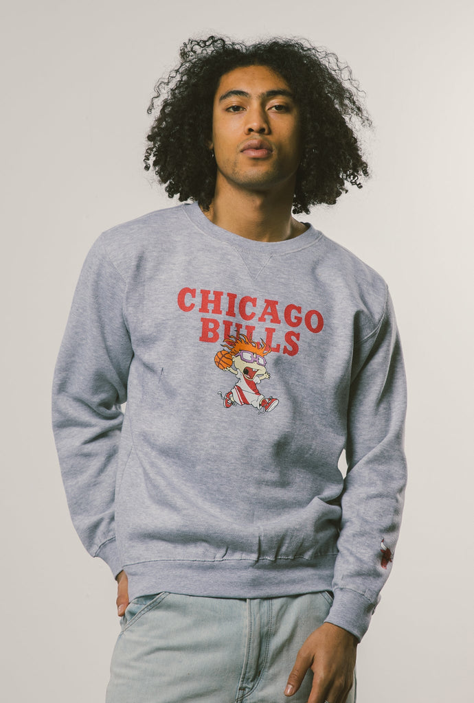 NBA x Rugrats Chicago Bulls Chuckie Crewneck - Grey