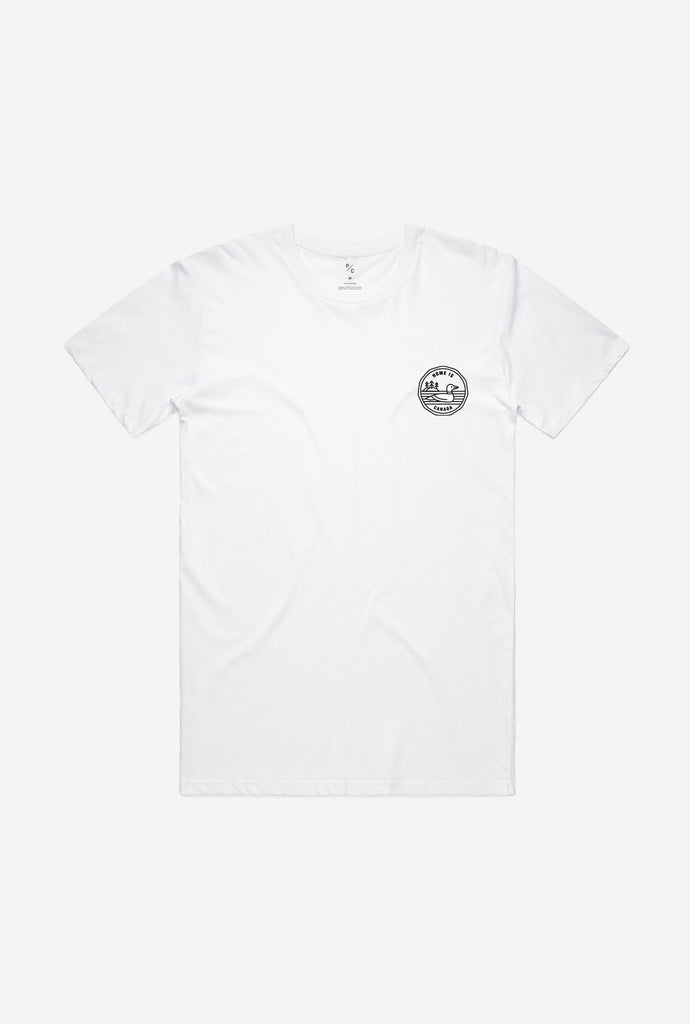 Home is Canada Loonie T-Shirt - White