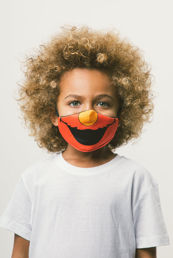 Elmo Kids Face Mask - Red