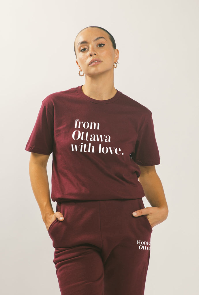From Ottawa with Love T-Shirt - Maroon