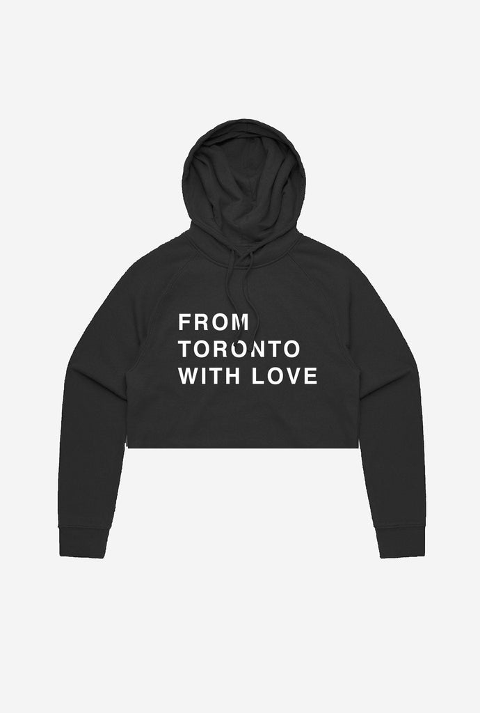 From Toronto With Love Cropped Hoodie - Black