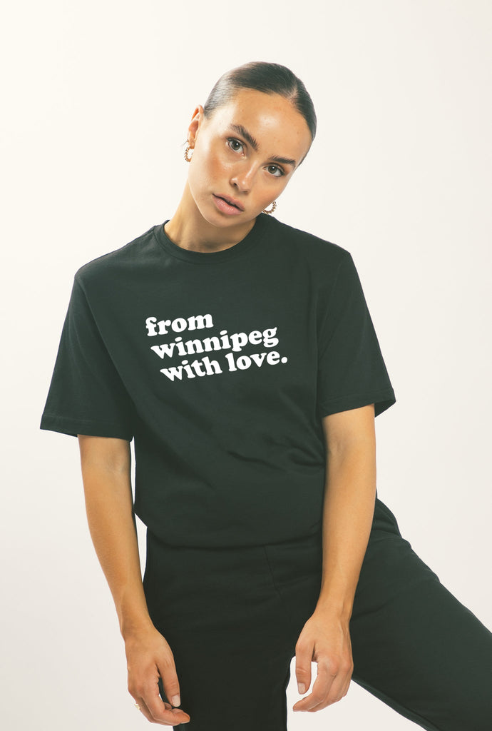 From Winnipeg with Love T-Shirt - Black
