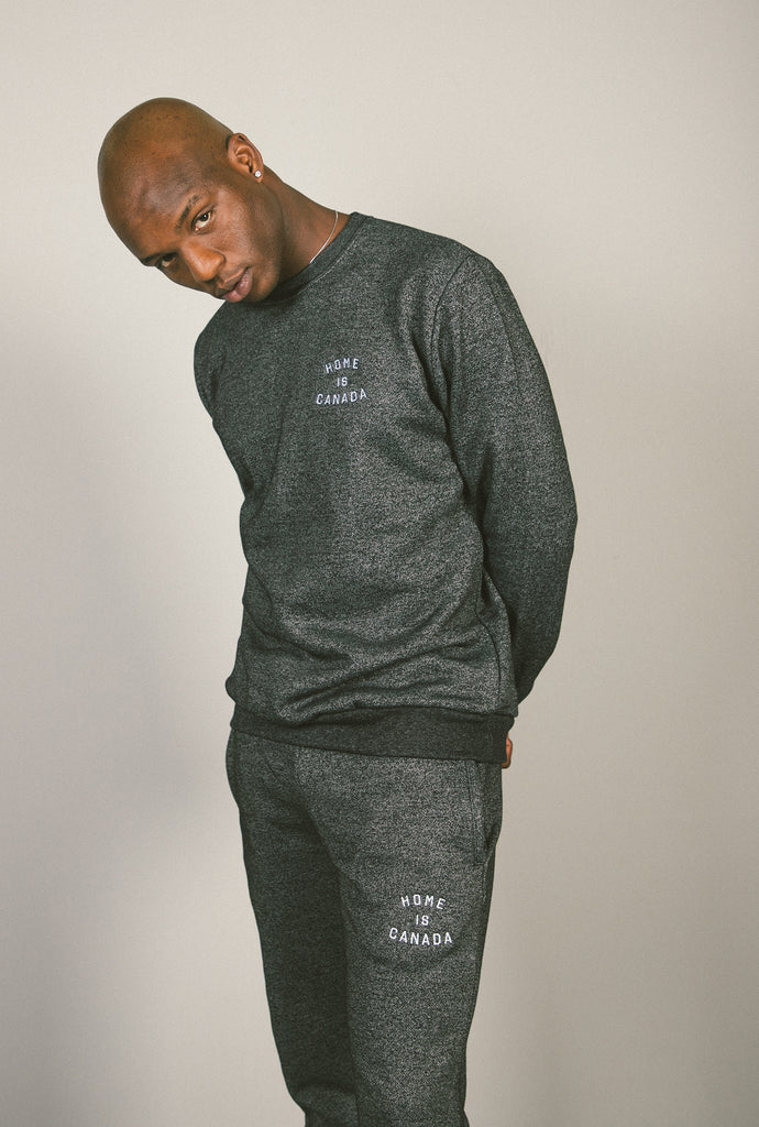 Home is Canada Melange Joggers - Marled Black