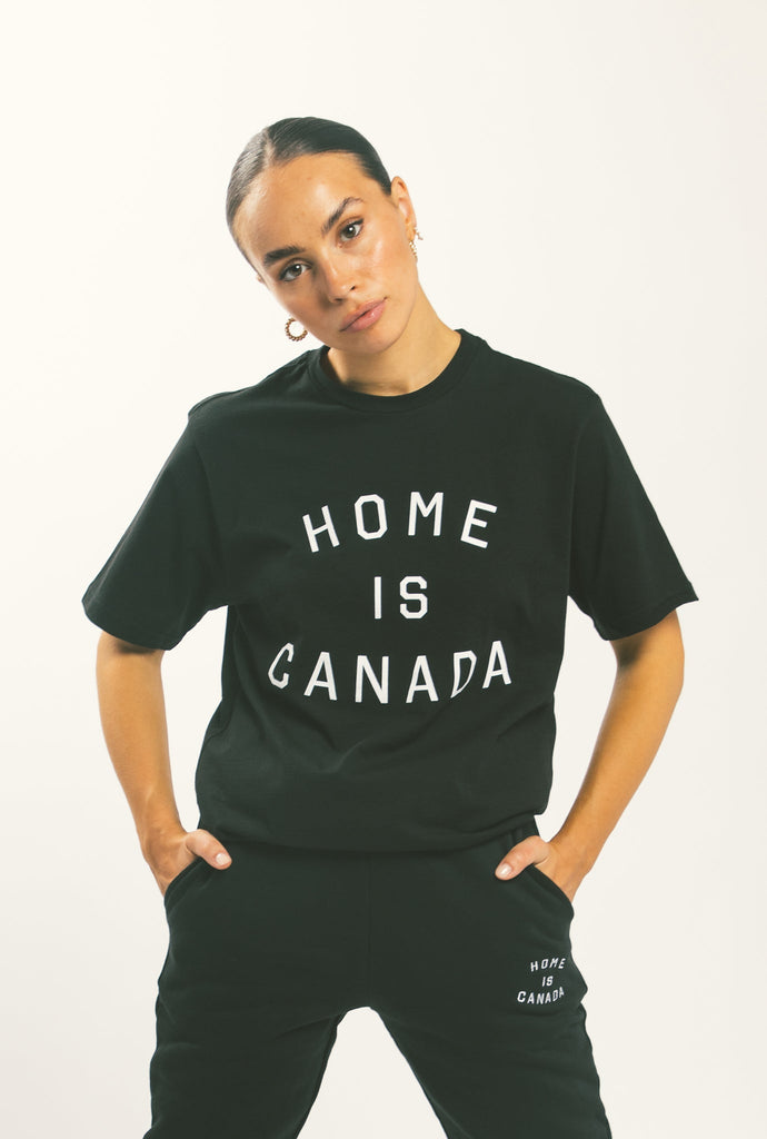 Home is Canada T-Shirt - Black
