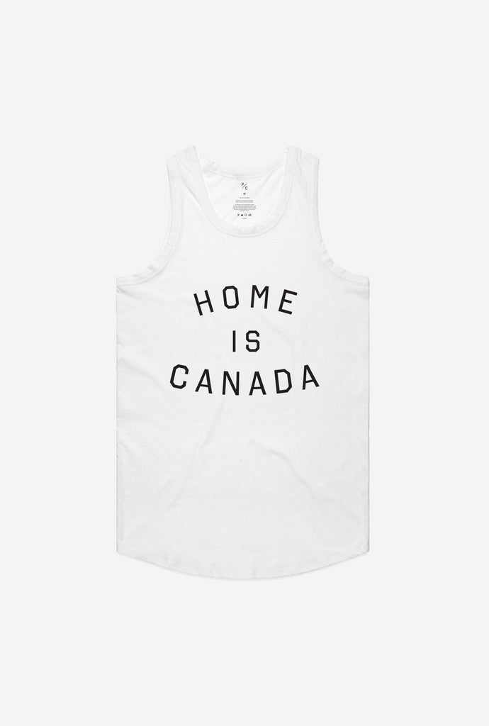 Home is Canada Tank - White