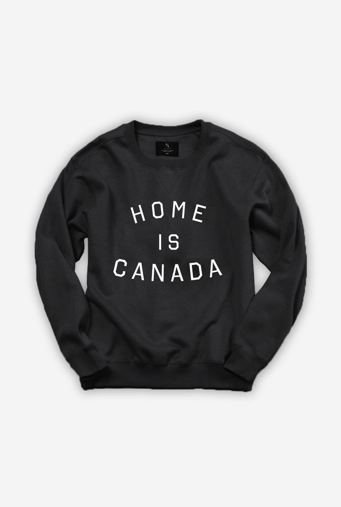 Home is Canada Crewneck - Black