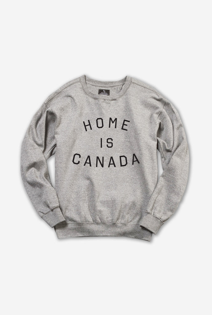 Home is Canada Crewneck - Grey