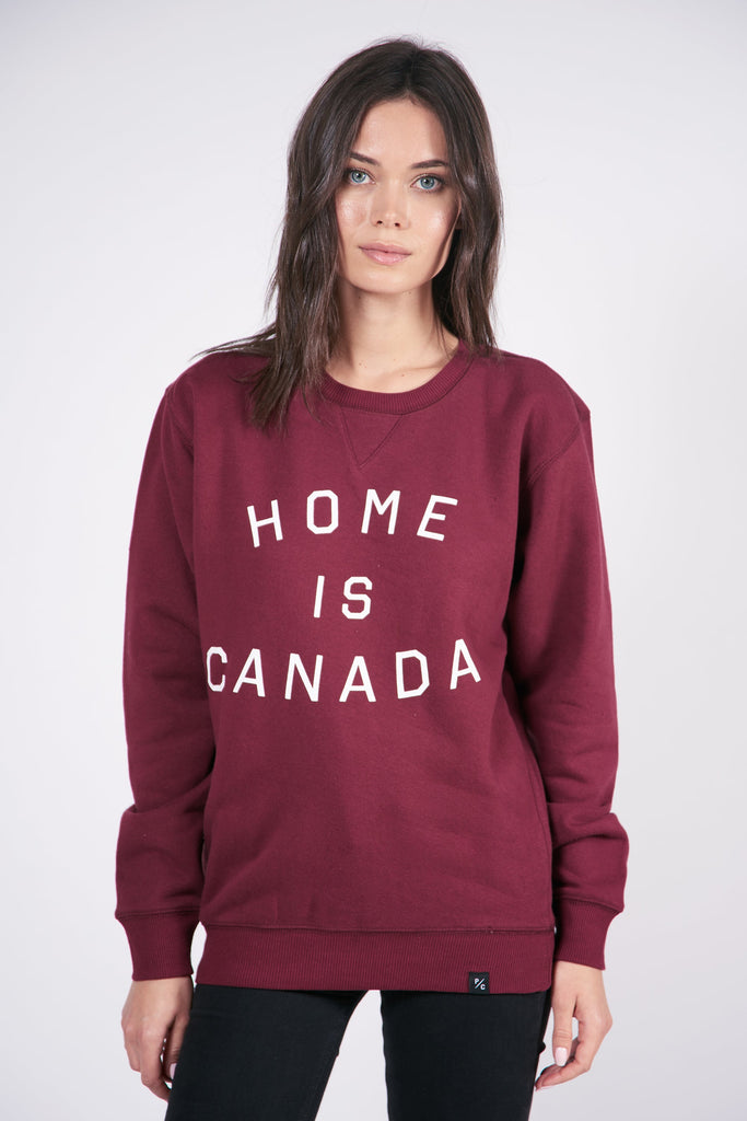 Home is Canada Crewneck - Maroon