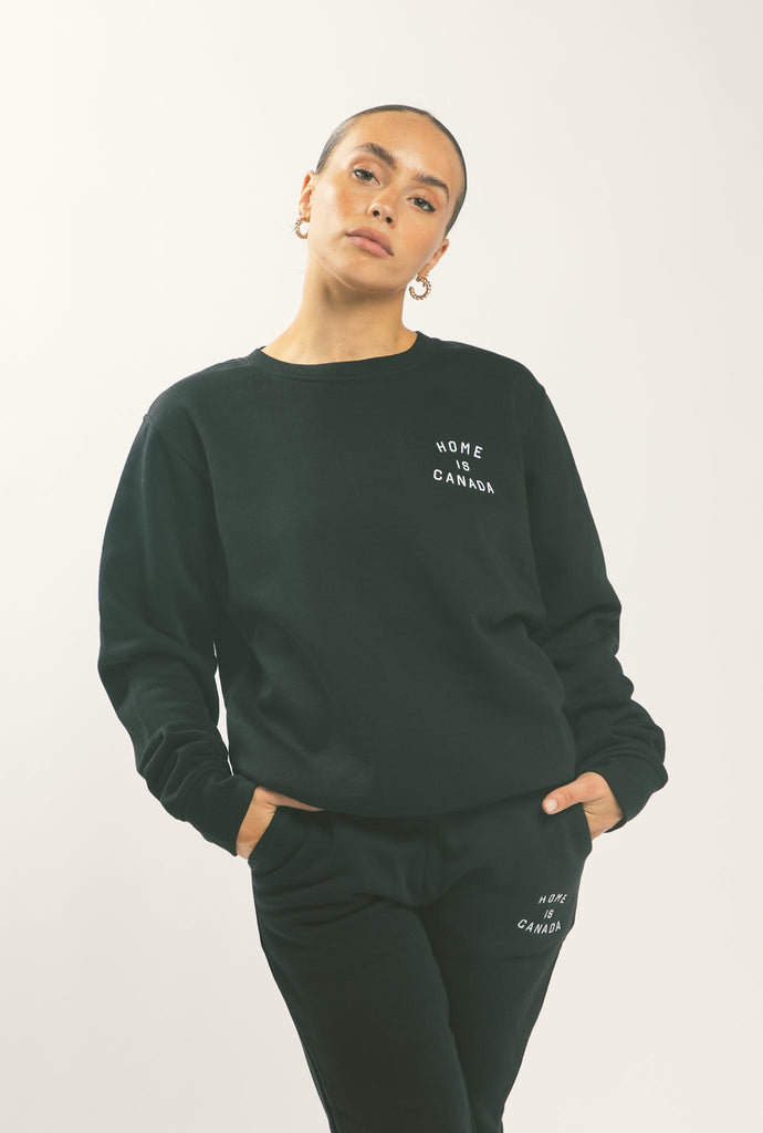 Home is Canada Crescent Crewneck - Black