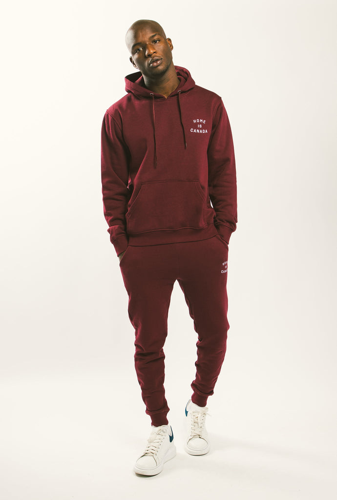 Home is Canada Crescent Hoodie - Maroon