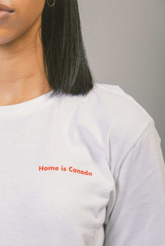 Home is Canada Logo T-Shirt - White