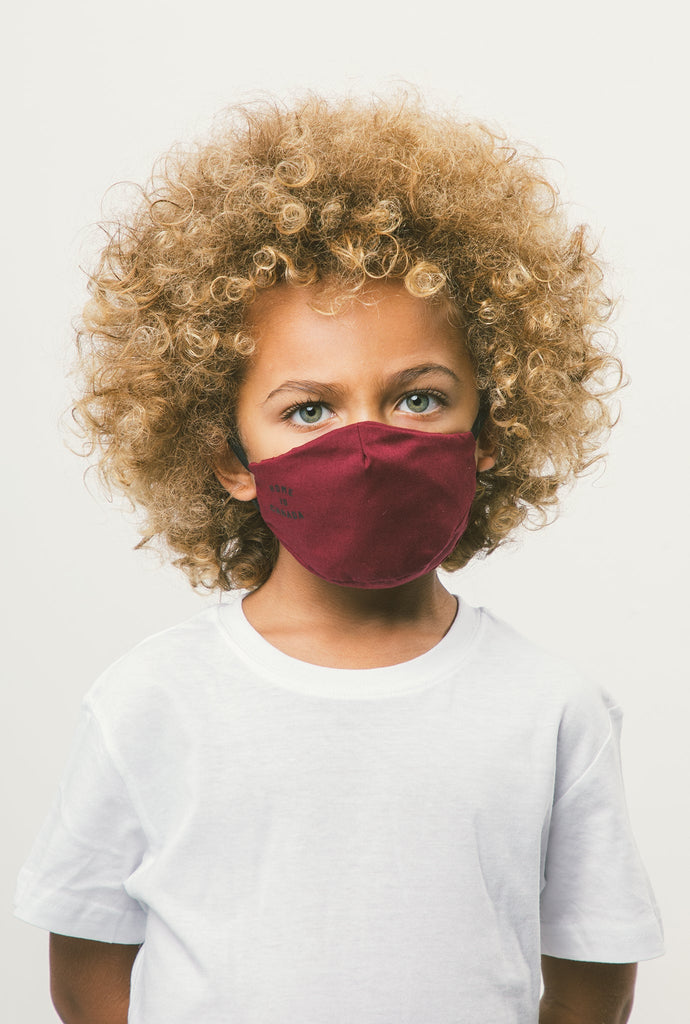 Home is Canada Kids Face Mask - Maroon