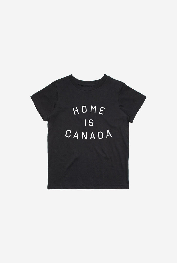 Home is Canada Kids T-Shirt - Black