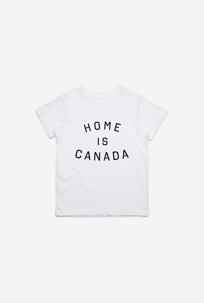 Home is Canada Kids T-Shirt - White