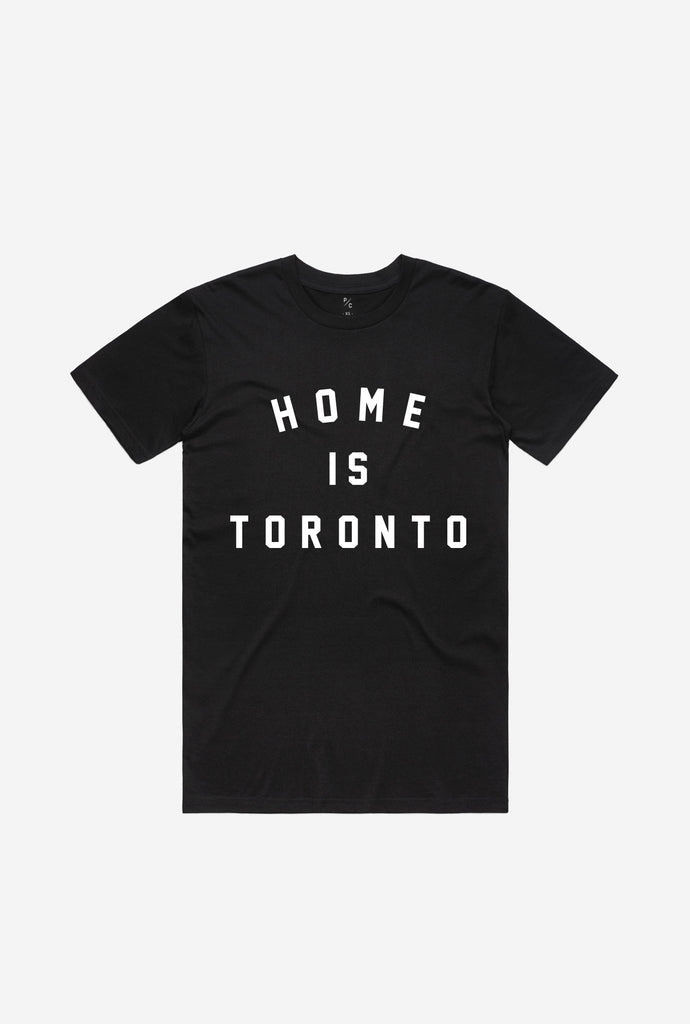 Home is Toronto Varsity T-Shirt - Black