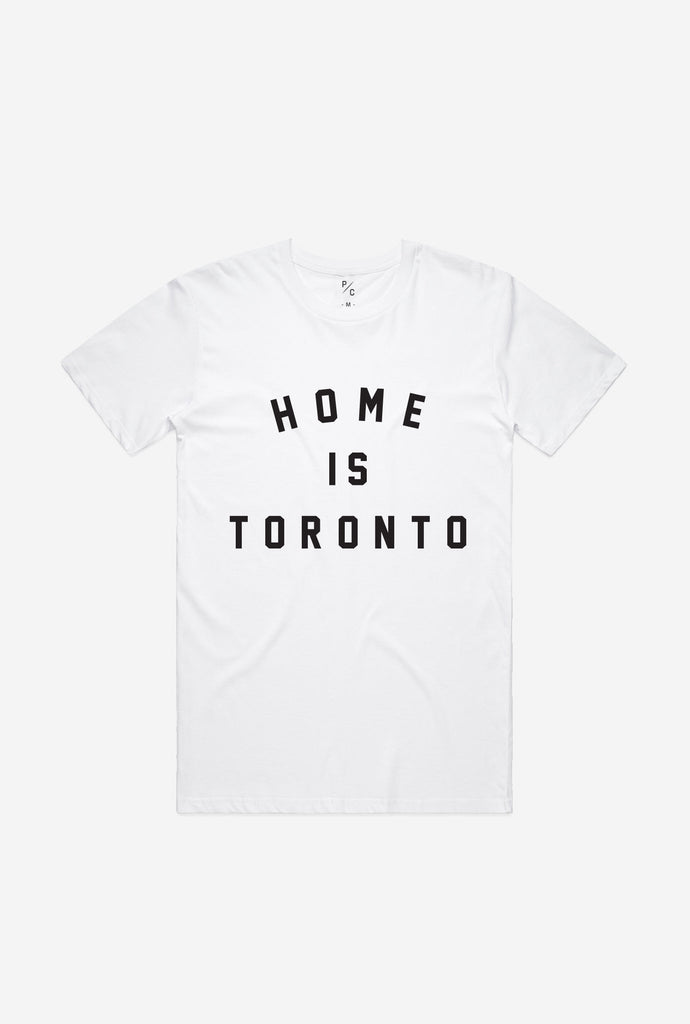 Home is Toronto Varsity T-Shirt - White